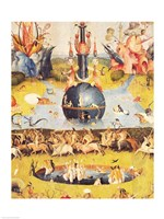 The Garden of Earthly Delights: Allegory of Luxury (yellow center panel detail) Fine Art Print