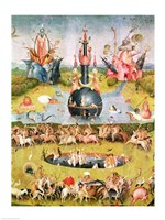 The Garden of Earthly Delights: Allegory of Luxury, animal central panel detail Fine Art Print