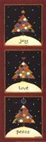 """Christmas Tree Trio by Lisa Hilliker - 6"""" x 18"""""""