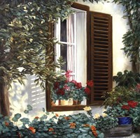 Window with Flowers II Fine Art Print