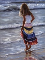 The Striped Skirt Fine Art Print