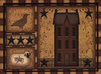 Primitive Shadowbox Fine Art Print