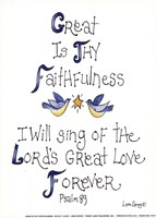 Great is Thy Faithfulness Framed Print