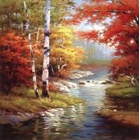 "Quiet Stream by Stephen Douglas - 27"" x 27"""