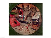 Tabletop of the Seven Deadly Sins and the Four Last Things, detail of Hell, c.1480 Fine Art Print
