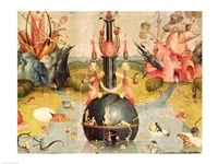 The Garden of Earthly Delights: Allegory of Luxury (yellow horizontal center panel detail) Fine Art Print
