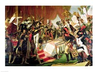 The Distribution of the Eagle Standards, 5th December 1804, detail of the standard bearers Fine Art Print