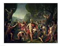 Leonidas at Thermopylae, 480 BC, 1814 by Jacques-Louis David, 1814 - various sizes