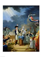 The Oath of Lafayette at the Festival of the Federation, 14th July 1790 Fine Art Print