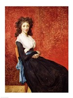 Portrait of Madame Charles-Louis Trudaine Fine Art Print