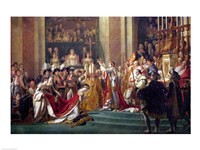 The Consecration of the Emperor Napoleon I Detail Framed Print