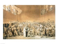 The Tennis Court Oath, 20th June 1789 Fine Art Print