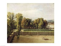View of the Luxembourg Gardens in Paris, 1794 Fine Art Print
