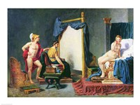 Apelles Painting Campaspe in the Presence of Alexander the Great Fine Art Print