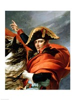 Napoleon Crossing the Alps, detail Fine Art Print