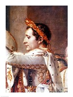 The Consecration of the Emperor Napoleon and the Coronation of the Empress Josephine, detail of Napoleon by Jacques-Louis David - various sizes