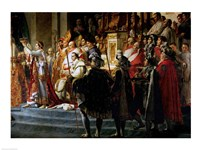The Consecration of the Emperor Napoleon and the Coronation of the Empress Josephine, Throne Detail Fine Art Print