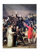 The Tennis Court Oath, 20th June 1789 Portrait Fine Art Print
