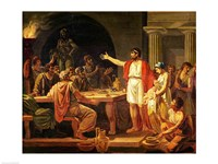 Study for Lycurgus Showing the Ancients of Sparta their King, 1791 Fine Art Print