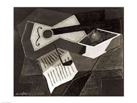 Guitar and Fruit bowl, 1926 Fine Art Print