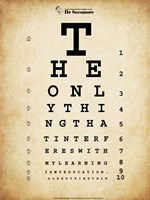 Einstein Eye Chart - various sizes - $29.99