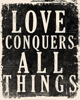Love Conquers All - Voltaire Quote Framed Print