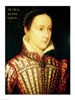 Miniature of Mary Queen of Scots, c.1560 Fine Art Print