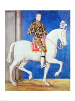 Equestrian Portrait Presumed to be Dauphin Henri II Fine Art Print