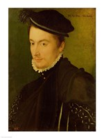 Portrait presumed to be Hercule-Francois de France Fine Art Print