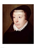 Portrait of Catherine de Medici Fine Art Print