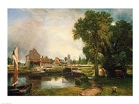 Dedham Lock and Mill, 1820 Fine Art Print
