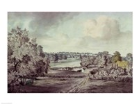 The Valley of the Stour, with Langham church in the distance Fine Art Print