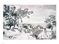The Entrance to the Village of Edensor, 1801 Fine Art Print