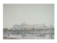 Windsor Castle from the River, 19th century Fine Art Print
