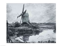 A mill on the banks of the River Stour by John Constable - various sizes