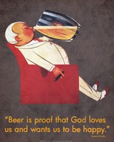 Beer Is Proof Fine Art Print