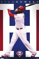 "Phillies - R Howard 11 - 22"" x 34"""