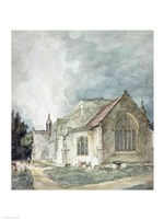 East Bergholt Church, c.1805-11 Fine Art Print