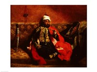 A Turk smoking sitting on a sofa, 1825 by Eugene Delacroix, 1825 - various sizes - $16.49