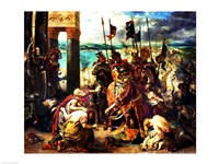 The Crusaders' entry into Constantinople Fine Art Print