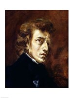 Frederic Chopin by Eugene Delacroix - various sizes