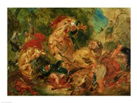 Study for The Lion Hunt, 1854 by Eugene Delacroix, 1854 - various sizes