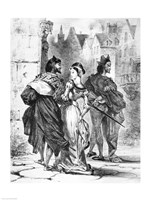 Faust meeting Marguerite, from Goethe's Faust by Eugene Delacroix - various sizes