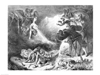 Faust and Mephistopheles at the Witches' Sabbath, from Goethe's Faust, 1828 Fine Art Print