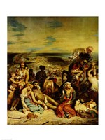 Scenes from the Massacre of Chios, 1822 Fine Art Print