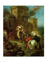 Rebecca Kidnapped by the Templar, Sir Brian de Bois-Guilbert, 1858 by Eugene Delacroix, 1858 - various sizes, FulcrumGallery.com brand