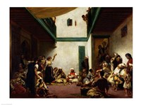 A Jewish wedding in Morocco, 1841 Fine Art Print