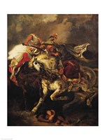The Battle of Giaour and Hassan, after Byron's poem, 'Le Giaour', 1835 by Eugene Delacroix, 1835 - various sizes, FulcrumGallery.com brand