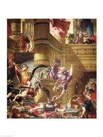 The Expulsion of Heliodorus from the Temple by Eugene Delacroix - various sizes