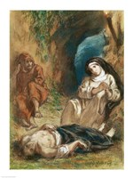 Lelia in the Cave by Eugene Delacroix - various sizes
